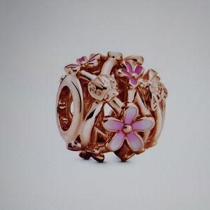 Pandora Pink Daisy Charm RG